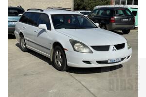 8/2003 Mitsubishi Magna LS TL 4d Wagon White 3.5L