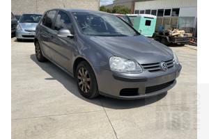 9/2006 Volkswagen Golf 2.0 FSI Sportline 1K 5d Hatchback Grey 2.0L